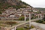 Albania;Albanian;Europe;architecture;art;art_history;Balkans;Berati;Shqiperia;UNESCO;World_Heritage_Site;Ottoman;Berat;Pedestrian;bridge;Osumi;River