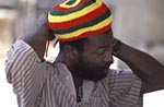 Barbados;Barbadian;Caribbean;Antilles;persons;people;West_Indies;St_Johns_Parish_Church;Man;wearing;Rastafarian;hat