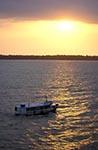 Brazil;Brazilian;Brasil;Latin_America;Passenger;boat;Amazon;River;Marajo_Bay;sunset;Marajo_Bay;Para;boats;vessels;transportation;jungle;tropical_rain_forest