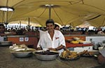 Brazil;Brazilian;Brasil;Latin_America;Belem_do_Para;eateries;eatery;foods;jungle;male;man;Market;marketplaces;markets;men;merchants;Para;people;person;persons;retailers;salespersons;sellers;shopping;stall;tropical_rain_forest;vendors;Ver_o_Peso;Food