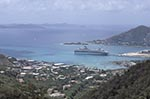 British_Virgin_Islands;Virgin_Islands;Caribbean;Antilles;cruise_ships;cruising;liner;tourism;holidays;vacations;travel;boats;vessels;marine;transportation;islands;tropical;United_Kingdom;West_Indies;Tortola;Cruise;ship;buildings;Harbour;Road_Town