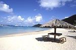 British_Virgin_Islands;Virgin_Islands;Caribbean;Antilles;beaches;islands;tropical;United_Kingdom;West_Indies;Virgin_Gorda;Beach;picnic;table;Spanish_Town_Harbour