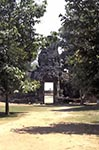 Cambodia;Cambodian;Kampuchea;Asia;Southeast_Asia;_Ancient;Anthropology;Archaeology;Architecture;Art;Art_history;Civilization;Culture;History;Indochina;Khmer;Khmer_Empire;UNESCO;World_Heritage_Site;Angkor;Siem_Reap;Face_tower;Eastern_gopura;Banteay_Kdei