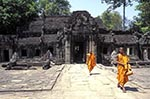 Cambodia;Cambodian;Kampuchea;Asia;Southeast_Asia;_Ancient;Anthropology;Archaeology;Architecture;Art;Art_history;beliefs;Buddhism;Buddhist;Civilization;creed;Culture;faith;History;Indochina;Khmer;Khmer_Empire;male;man;men;people;person;persons;people;religion;UNESCO;World_Heritage_Site;Angkor;Siem_Reap;Buddhist;monks;walking;Hall;Dancing;Girls;Banteay_Kdei