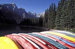 Canada;Canadian;North_America;Rocky_Mountains;Rockies;UNESCO;World_Heritage_Site;Banff;National_Park;Alberta;Canoes;Moraine_Lake