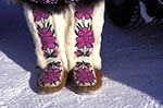 Canada;Canadian;North_America;Arctic;attires;child;childhood;children;clothes;clothing;costume;dress;garments;girl;girls;Inuvik;kids;North_West_Territories;Northwest_Territories;outfits;people;Canadians;person;persons;shoes;youngsters;Mukluks