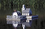 Canada;Canadian;North_America;Maritimes;Digby;Nova_Scotia;Lawn_ornament;pond;Sandy_Cove