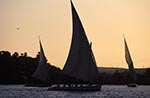 Egypt;Egyptian;Feluccas;Nile_River;sunset;Aswan;arid;boats;deserts;Feluccas;Middle_East;Near_East;Nile;North_Africa;River;rivers;streams;sunset;transportation;vessels;water