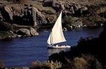 Egypt;Egyptian;Felucca;Nile_River;Aswan;arid;boats;deserts;Felucca;Middle_East;Near_East;Nile;North_Africa;River;rivers;streams;transportation;vessels;water