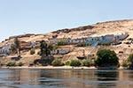 Egypt;Egyptian;Nag_Gharb_Siheil;village;Nile_River;Aswan;arid;boats;deserts;Nile;North_Africa