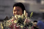 Hong_Kong;China;Chinese;Asia;persons;people;Sino;woman;women;female;person;people;Hong_Kong;Woman;bouquet;flowers