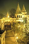 Hungary;Hungarian;Magyar;Europe;Europa;Eastern_Europe;Architecture;Art;Art_history;Romanesque_Revival;UNESCO;World_Heritage_Site;Budapest;Halászbástya;Fishermans_Bastion;night