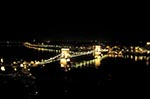 Hungary;Hungarian;Magyar;Europe;Europa;Eastern_Europe;bridge;Chain_Bridge;Szechenyi;Budapest;Danube_River;night;Széchenyi_lánchíd;UNESCO;World_Heritage_Site