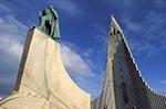 Iceland;Island;Scandinavia;Icelandic;Europe;Art_history;Capital_Region;Church;Hallgrimskirkja;Leifur_Eriksson;Modern_art;Reykjavik;Sculpture;Statue;Art
