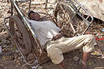 Mali;Malian;Africa;West_Africa;boy;boys;child;children;youngsters;kids;childhood;person;people;boys;childhood;children;kids;people;persons;youngsters;Bamako;Boy;sleeping;cart