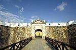 Mexico;Mexican;Latin_America;North_America;Central_America;Acapulco;Art;Art_history;beaches;castles;coasts;Draw_bridge;Fort_San_Diego;fortresses;forts;Guerrero;seashores;seaside;Spanish_Colonial;Architecture