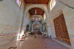 Mexico;Mexican;Latin_America;North_America;Central_America;Christianity;Christian;Catholic;religion;faith;beliefs;creed;Central;nave;gravestones;Guadalupe;Chapel;Real_de_Catorce;San_Luis_Potosi