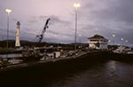 Panama;Latin_America;Central_America;Panamanian;canals;structures;constructions;Panama_Canal;Gatun_Locks;early;morning
