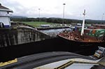 Panama;canals;Central_America;constructions;Latin_America;Panamanian;structures;trains;railways;railroads;public_transportation;Panama_Canal;Mule;Locomotive;ship;Gatun_Locks