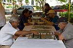Paraguay;Paraguayan;South_America;Latin_America;Men_playing_chess;park;Asuncion;games;pastimes;diversions;recreations;man;men;male;person;people;Chaco