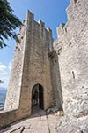 San_Marino;Sammarinese;Europe;Europa;Italian;architecture;art;art_history;castles;fortresses;forts;Medieval;Middle_Ages;UNESCO;World_Heritage_Site;Entrance;La_Rocca;First_Tower;Monte_Titano;Mount_Titano