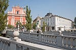 Slovenia;Slovene;Slovenian;Europe;Eastern_Europe;Europa;Art;Art_history;Baroque;Yugoslavia;Architecture;Ljubljana;Triple_Bridge;Church_of_the_Annunciation