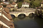 Switzerland;Schweiz;Suisse;Svizzera;Swiss;Europe;Europa;Aare;Architecture;Art;Art_history;Bern;Berne;Bridge;Gothic;Medieval;Middle_Ages;Nydegg_quarter;River;UNESCO;World_Heritage_Site