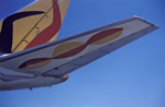 airplanes;commercial_airliners;aviation;aircraft;aeroplanes;transportation;flight;Santiago;Región_Metropolitana;Chile;art;art_history;modern;Flying_Colors;Alexander_Calder;McDonnell_Douglas_DC_8;Braniff_International