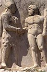 Turkey;Turkish;Asia;Europe;Ancient;Archaeology;Art;Art_history;Hellenism;Sculpture;UNESCO;World_Heritage_Site;Arsamea;Adiyaman;Bas_relief;Dexiosis;Mithridates_I;Heracles