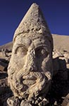 Turkey;Turkish;Asia;Europe;Adiyaman;Antiochus_I;Archaeology;Art;Art_history;Giant_head;Hellenism;Mausoleum;Nemrut_Dag;Oromasdes;ruler;Commagene;Sculpture;UNESCO;Western_Terrace;World_Heritage_Site;Zeus;Ancient