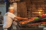 Uruguay;Uruguayan;Latin_America;man;men;male;person;people;meats;foods;persons;people;Montevideo;Cook;barbecue;Mercado_del_Puerto;Market
