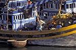 Vietnam;Vietnamese;Asia;Indochina;Southeast_Asia;boats;fisherman;fishermen;fishing_industry;marine;persons;people;ships;transportation;vessels;Phan_Thiet;Binh_Thuan;Fishing;boats;Phan_Thiet;River