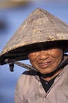 Vietnam;Vietnamese;Asia;Indochina;Southeast_Asia;aged;elderly;female;mature;older;people;person;persons;people;seniors;woman;women;Phan_Thiet;Binh_Thuan;Old;woman;wearing;hat;conical_hat